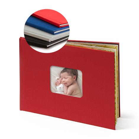 Leinenbuch mit Coverfenster ab 26,99 €