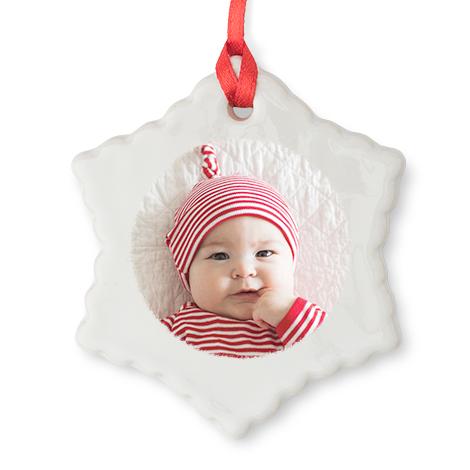 Star Christmas Photo Ornament