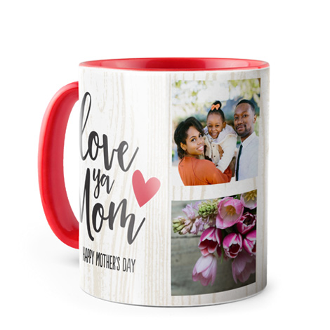 Photo Coffee Mug, 11oz, Red