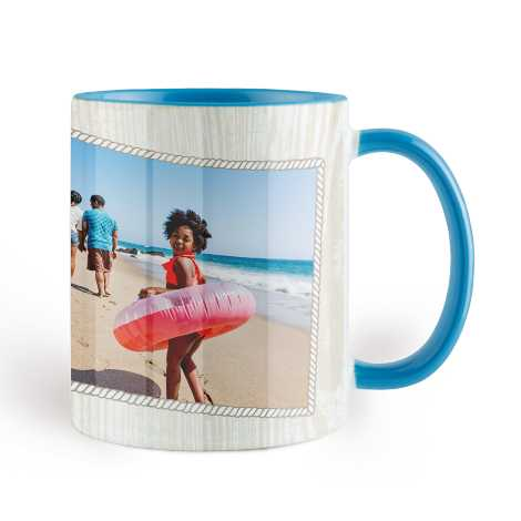 Photo Coffee Mug, 11oz., Sky Blue