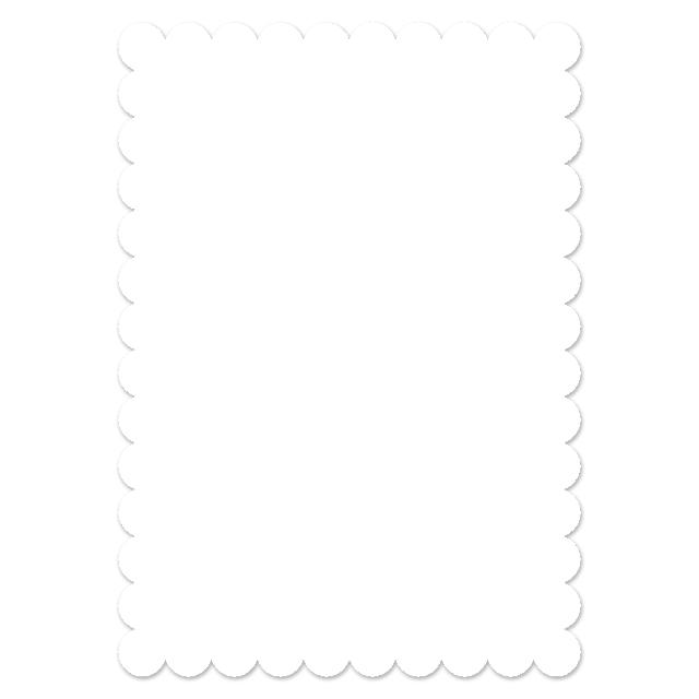 Stationery flat card set 5x7 premium cardstock scalloped trim overlay snowy blessings stopboris Choice Image