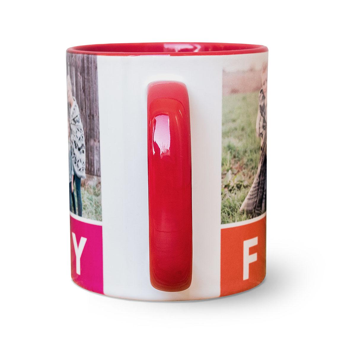 Red Coffee Mug 11oz   11oz Coloured Mugs   Mugs   Gifts   Snapfish UK
