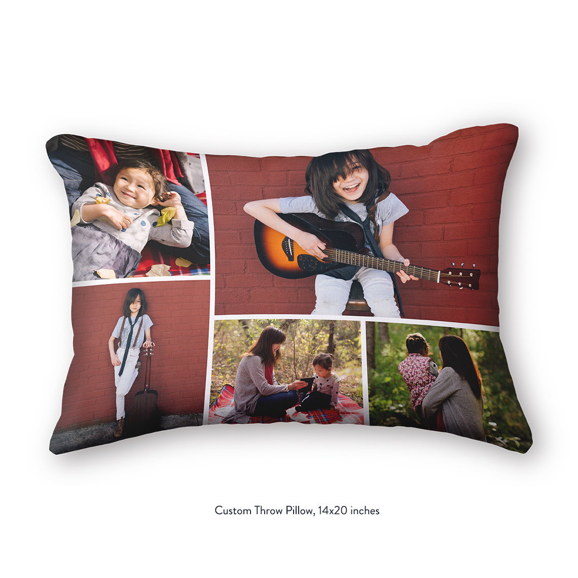 Collage Throw Pillow, 14x20 | Collage Throw Pillows | Blankets and ...