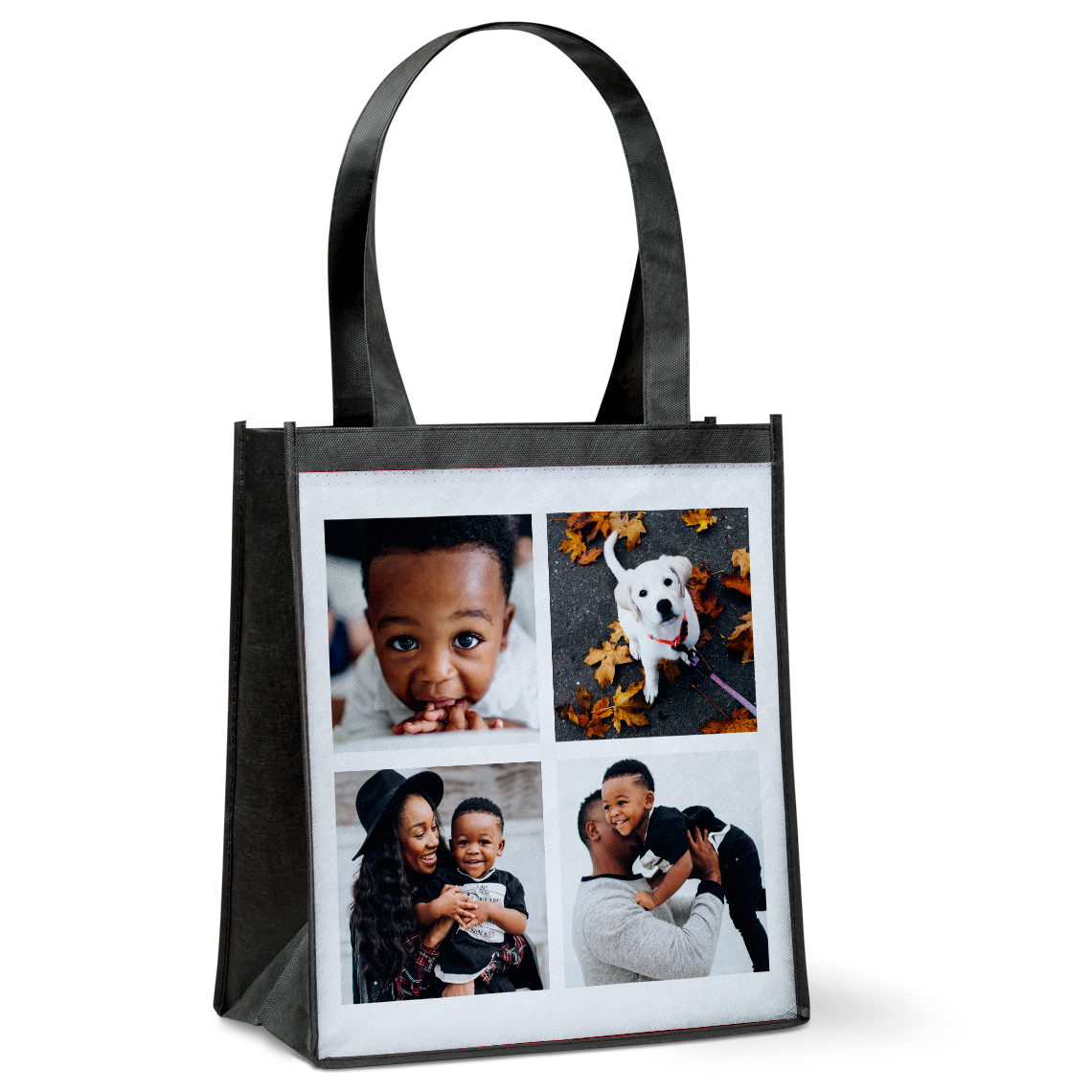 Collage Photo Reusable Grocery Tote Bag