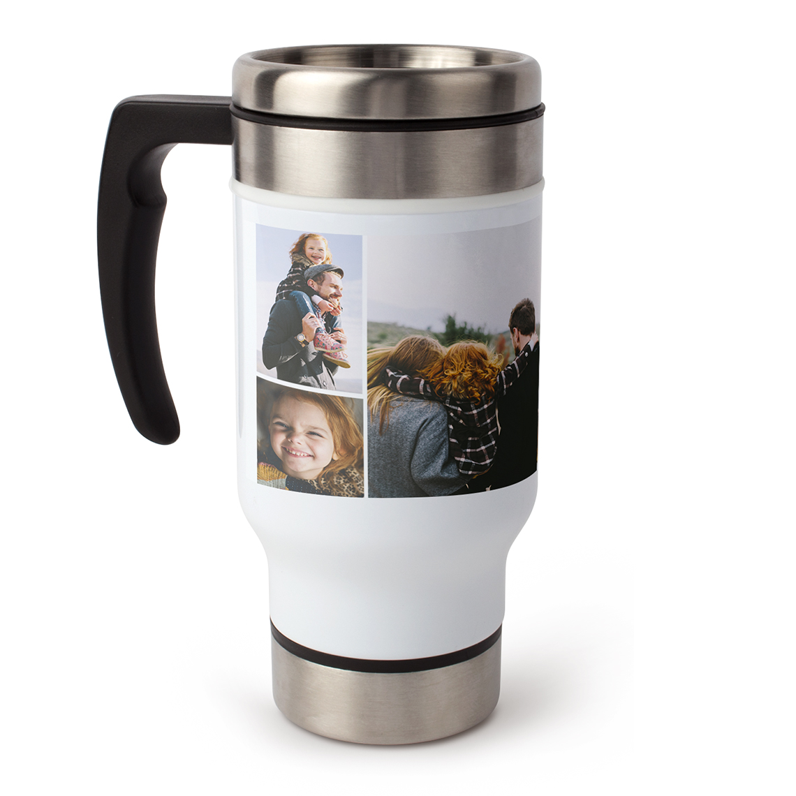 Create 13oz Photo Collage Travel Coffee Mug With Handle Snapfish Us