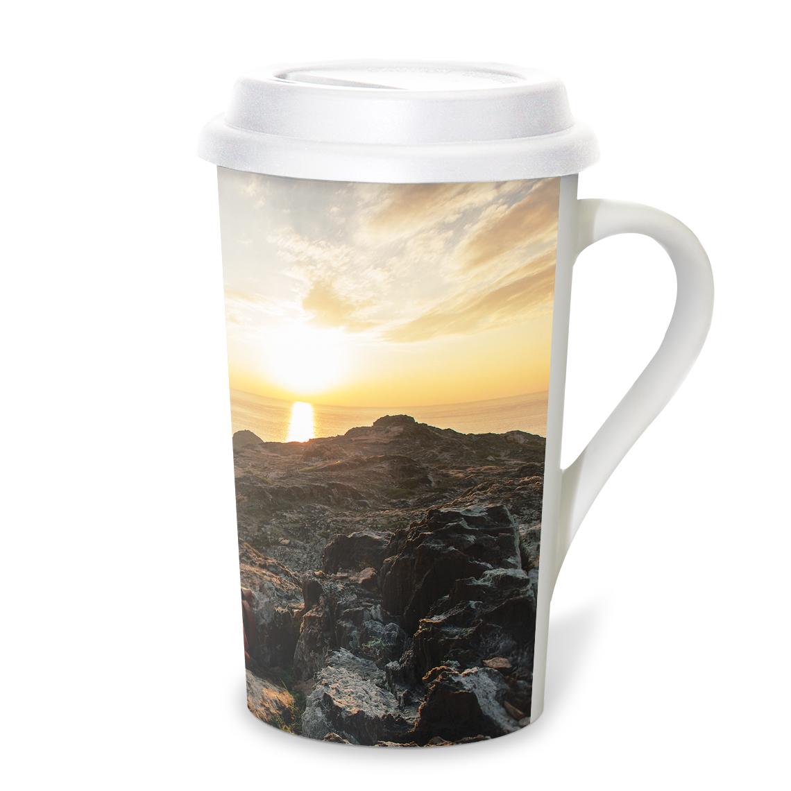 Grande Coffee Mug With Lid 16oz
