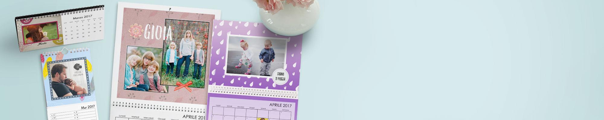 Foto Calendari Personalizzati 365 giorni delle tue foto preferite, personalizzate con testi, disegni e sfondi.