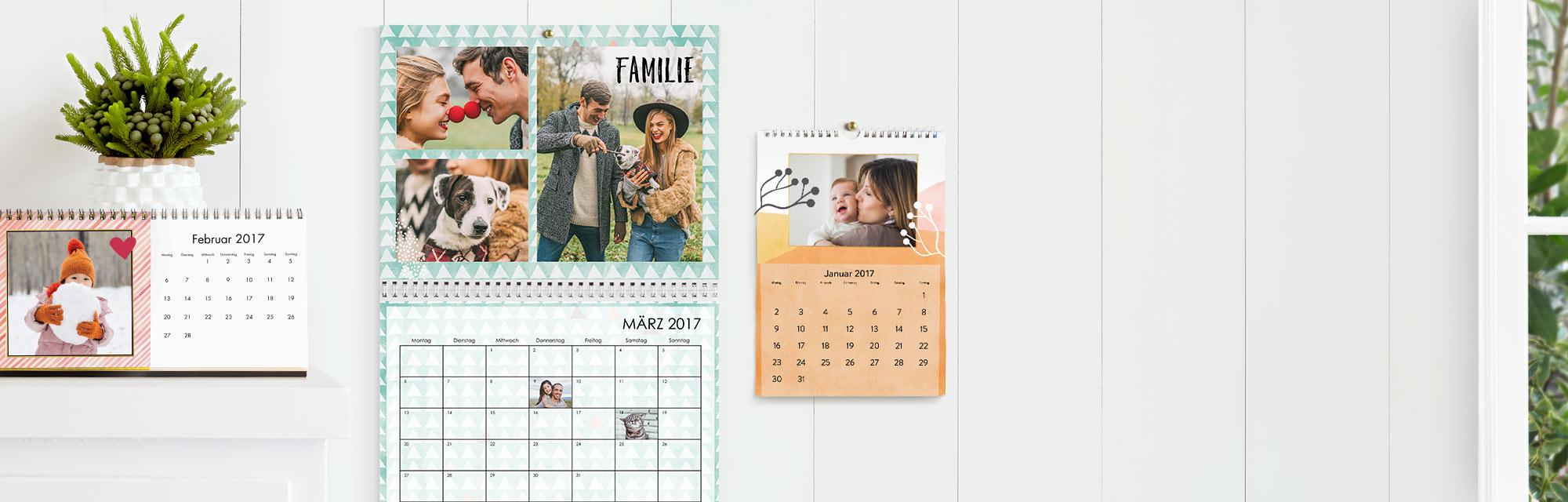Fotokalender  : Individuelle Fotokalender - Ihre Lieblingsfotos immer im Blick
