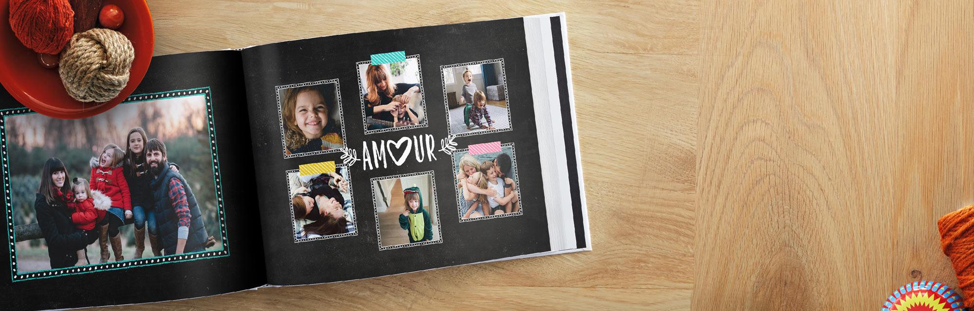Livres Photo : Choisissez un de nos modèles et sélectionnez remplissage automatique pour ajouter vos photos.