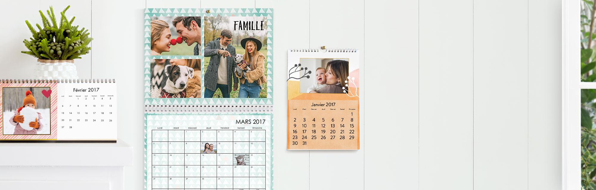 Calendriers Photo Personnalisés :  Profitez de l'année avec vos plus belles photos dans un calendrier photo personnalisé.