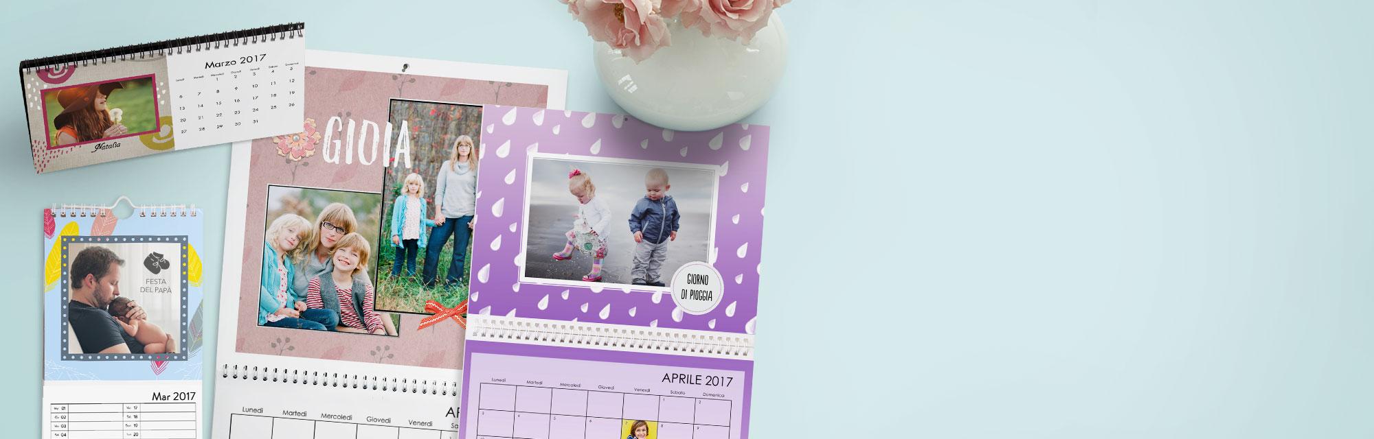 12 mesi speciali : Le tue foto più belle in un calendario fotografico personalizzato, unico.