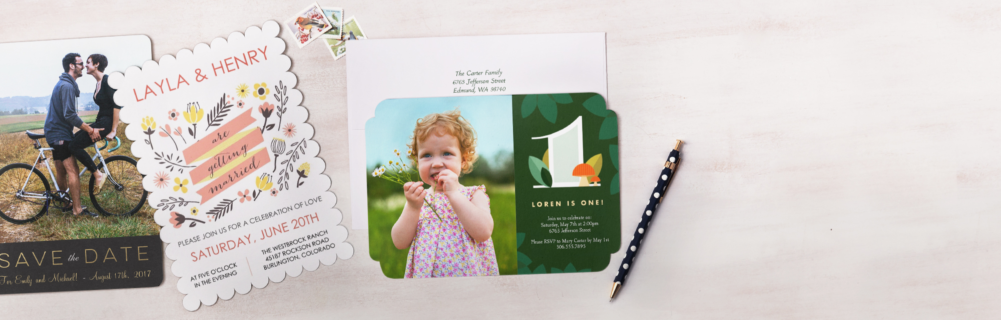 Premium Card Set Whatever the occasion, send beautiful announcements, invitations and more with the card set that has it all.