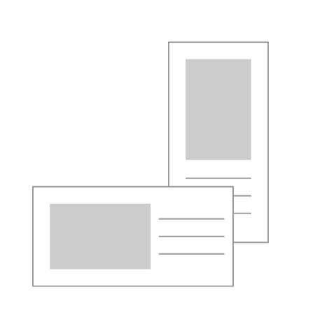 "20x10cm Flat Cards (8x4"")"