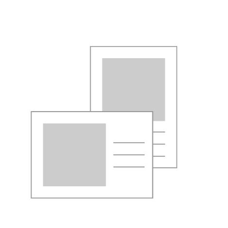 "18x13cm Flat Cards (7x5"")"