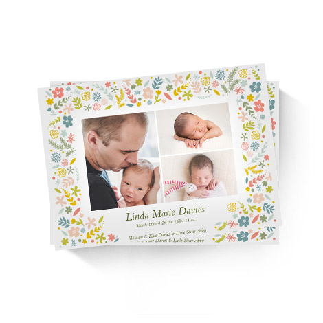 Baby Floral Frame