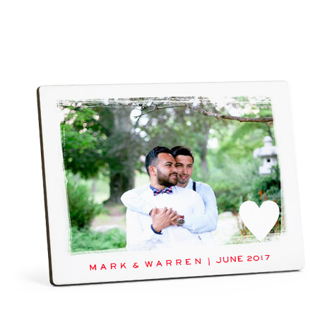 Tabletop Wood Photo Panel