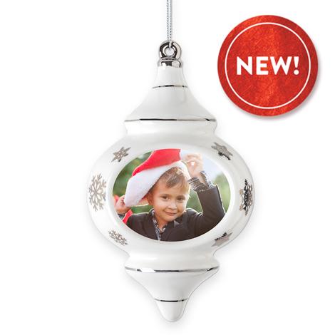 Porcelain Finial Christmas Ornament