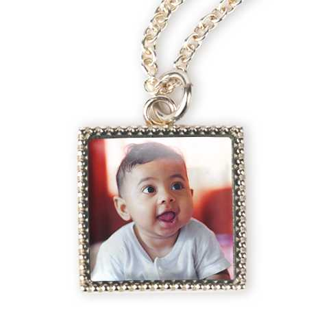 Silverplate Photo Necklace