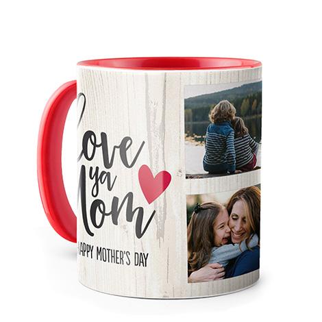 Photo Coffee Mug, 11oz, Red
