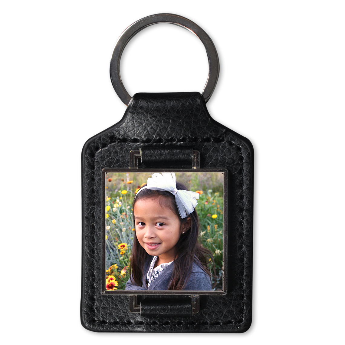 Leather square keychain leather keychain jewelry gifts leather photo keychain jeuxipadfo Image collections