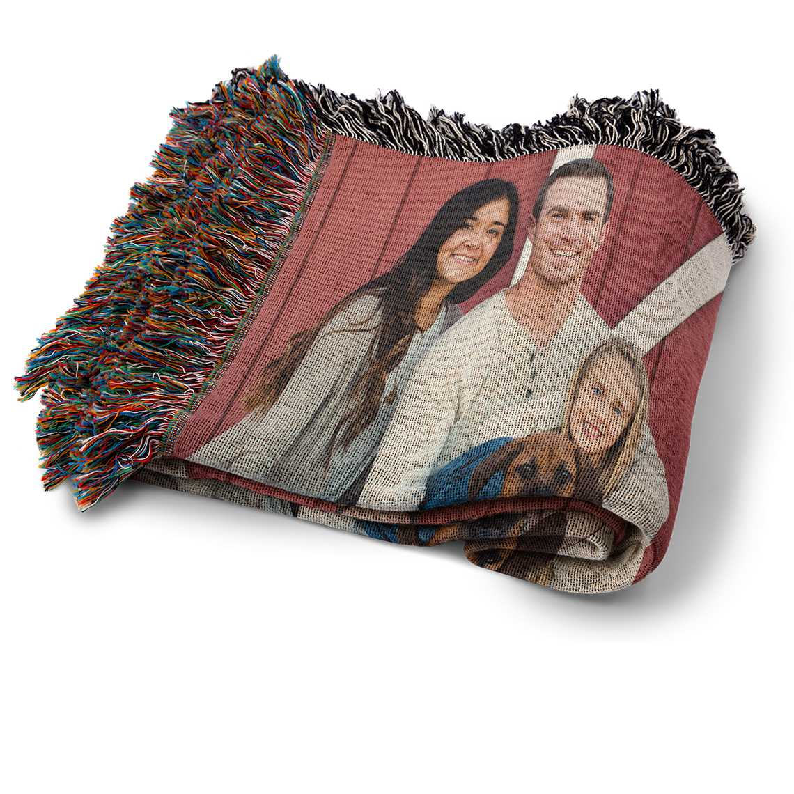 Personalized 50x60 Woven Photo Blankets