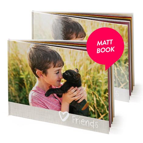 """11x8"""" Matt Hardcover Photo Book"""