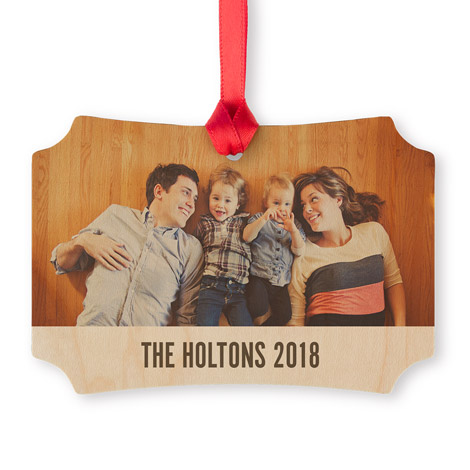 Maple Scalloped Photo Ornament