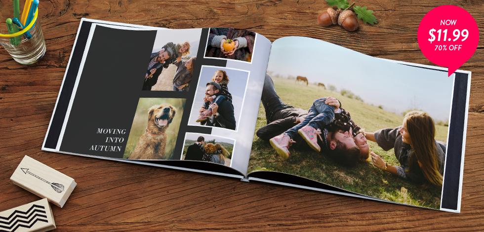 70% off 8x11 Hardcover Photo Books