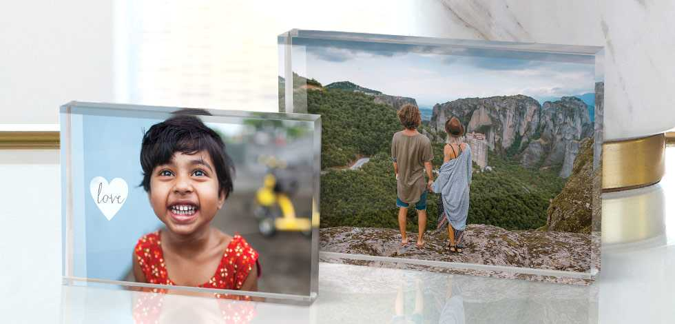 Tabletop Acrylic Photo Blocks