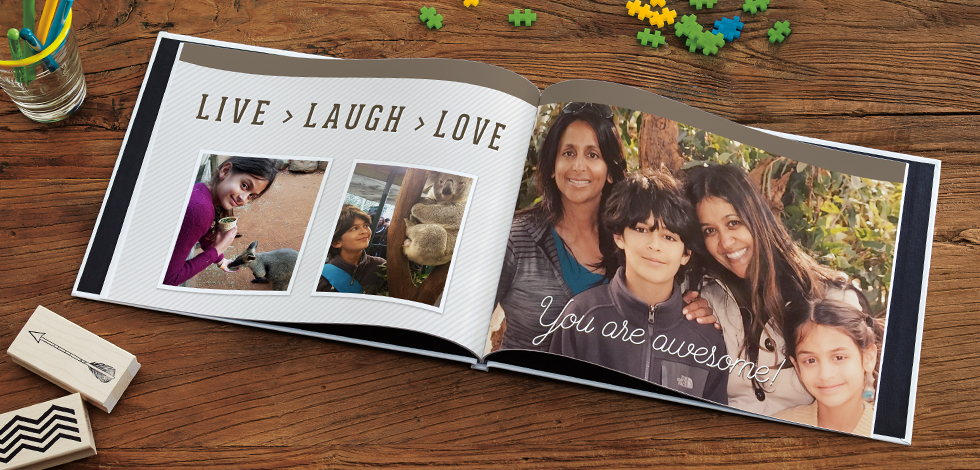 Print your own personalised photo album