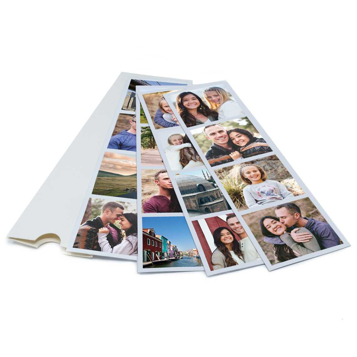 An image of Personalised Magnetic Photo Booth Strips   By Truprint