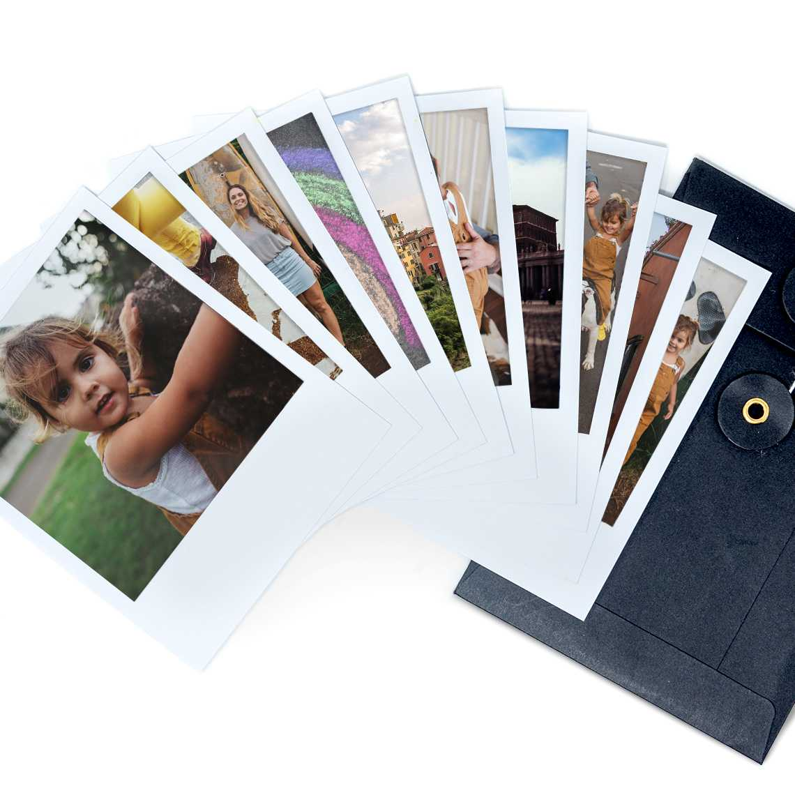 "An image of Personalised Set Of Retro Photo Prints 4"" x 5"" 