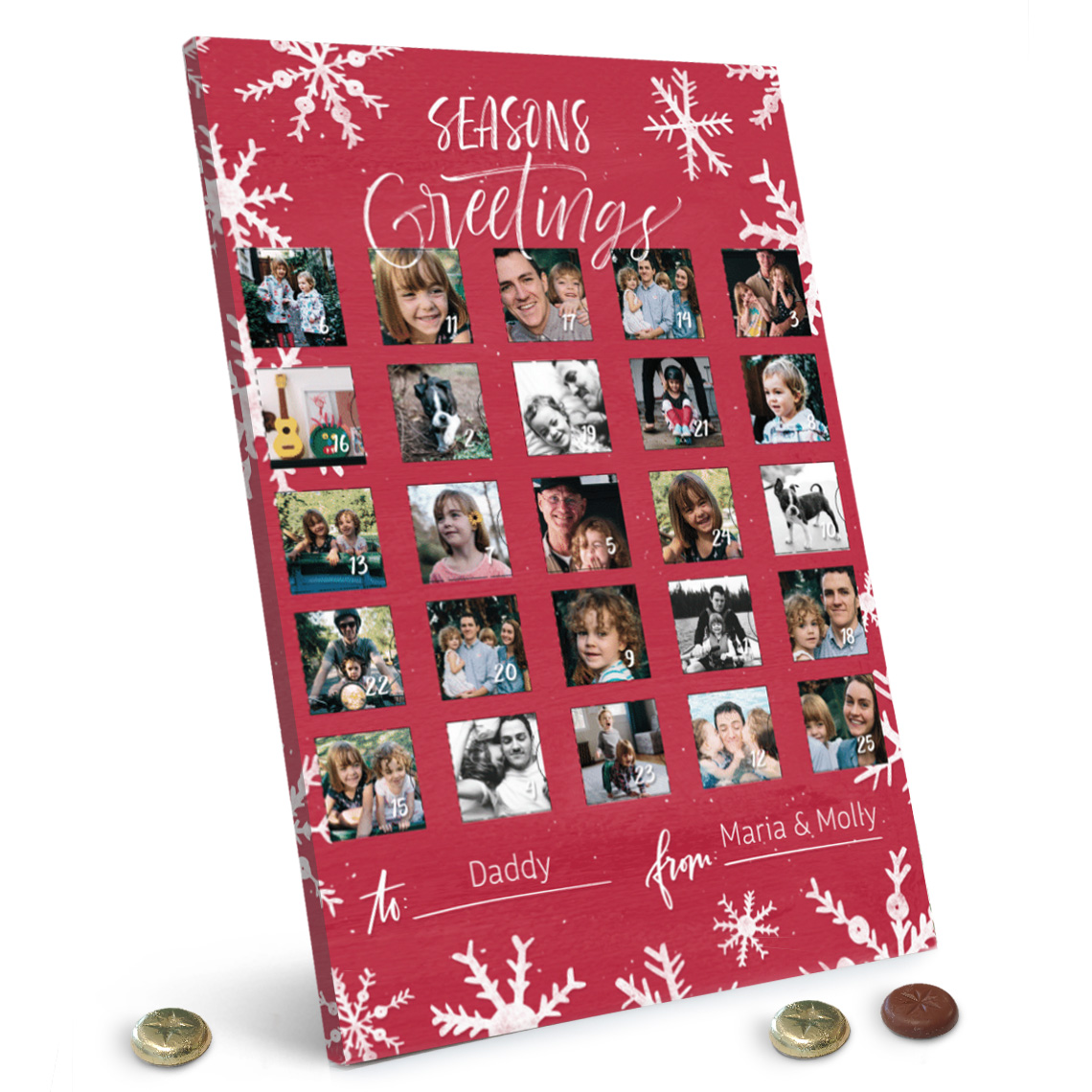 Personalised Christmas Advent Calendar