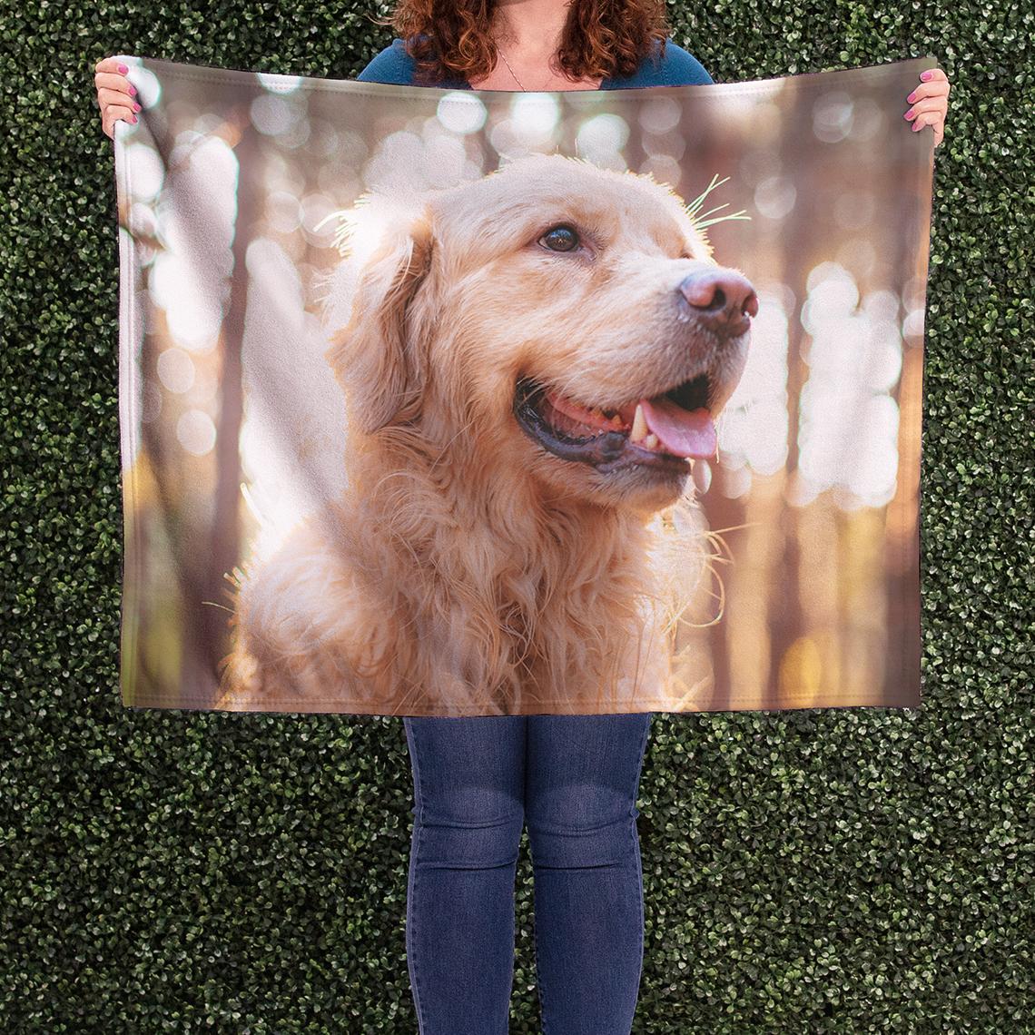 "Way To Celebrate Dog Christmas Throw Blanket 50"" x 60"""