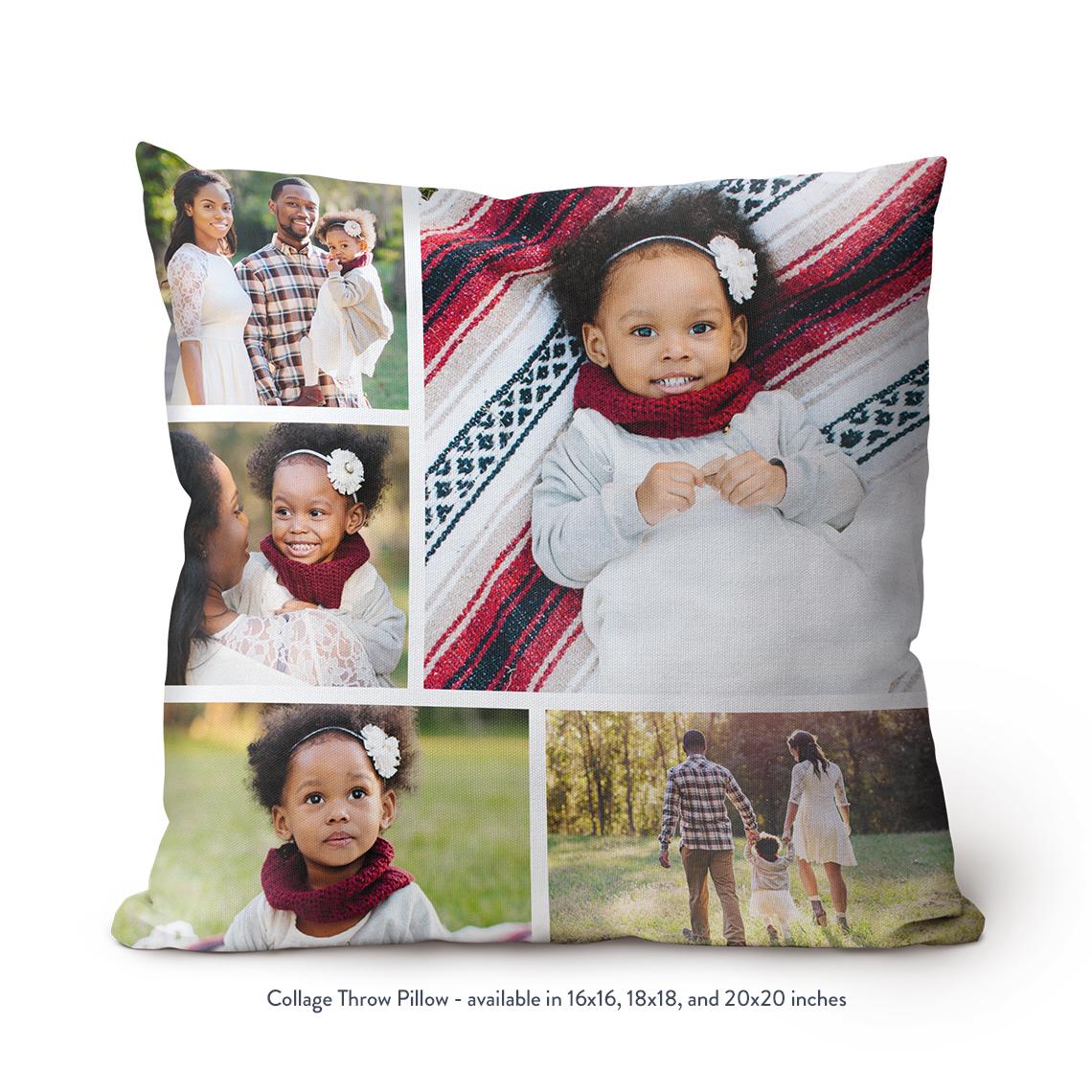 Collage Throw Pillow 18x18