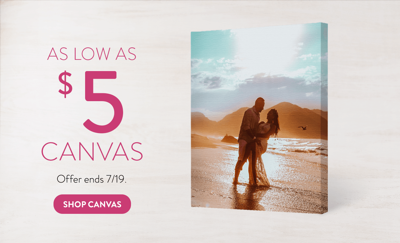 Canvas Prints for as low as $5
