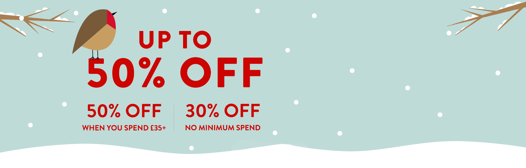 Early Bird Christmas Sale! : Christmas sale with up to 50% off everything!Use code EARLY1119 by 17/11.