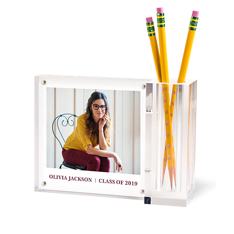 Personalized Acrylic Photo Desk Set
