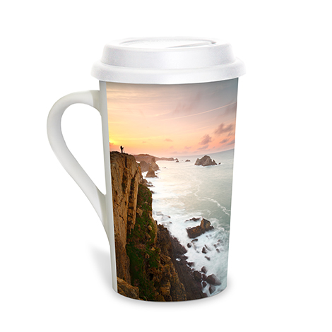 Grande Coffee Mug with Lid, 16oz.