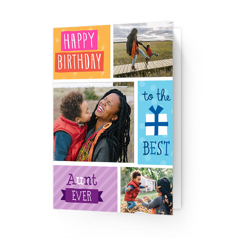 Happy birthday to aunts card