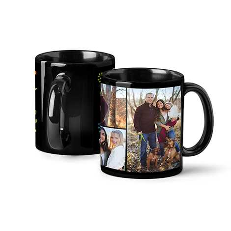 Photo Coffee Mug, 11oz, Black