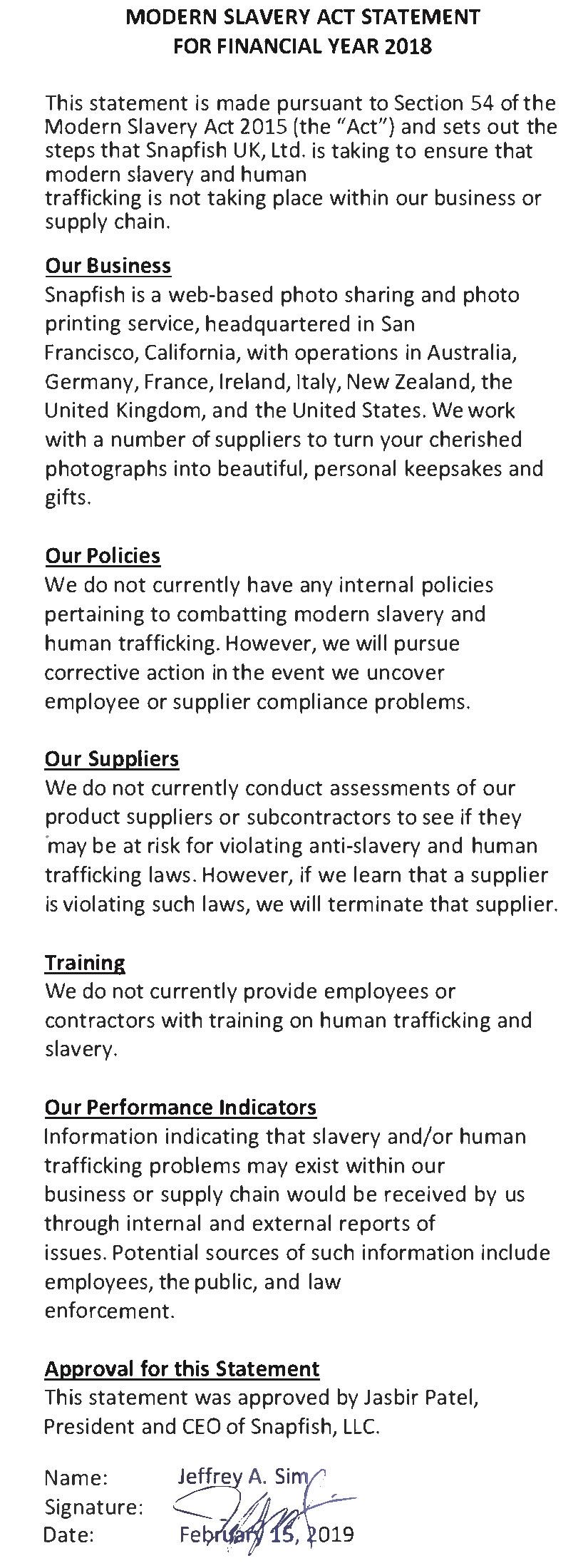 IMAGE OF MODERN SLAVERY STATEMENT