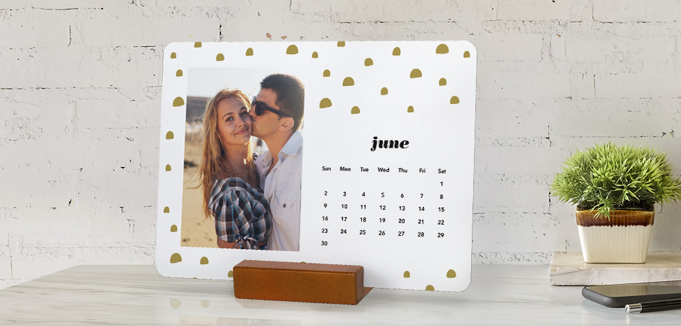 Wood Block Desk Calendars
