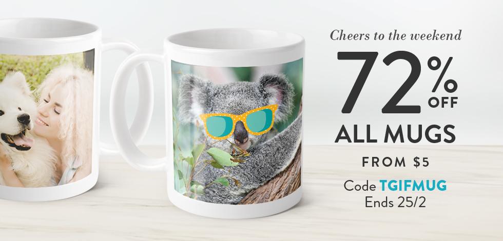 72% off all Mugs