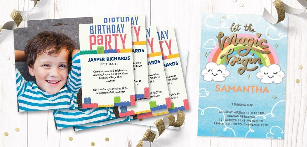 Image of birthday invitations