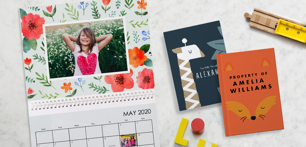 A picture with MAY 2020 calender, a few book covers.