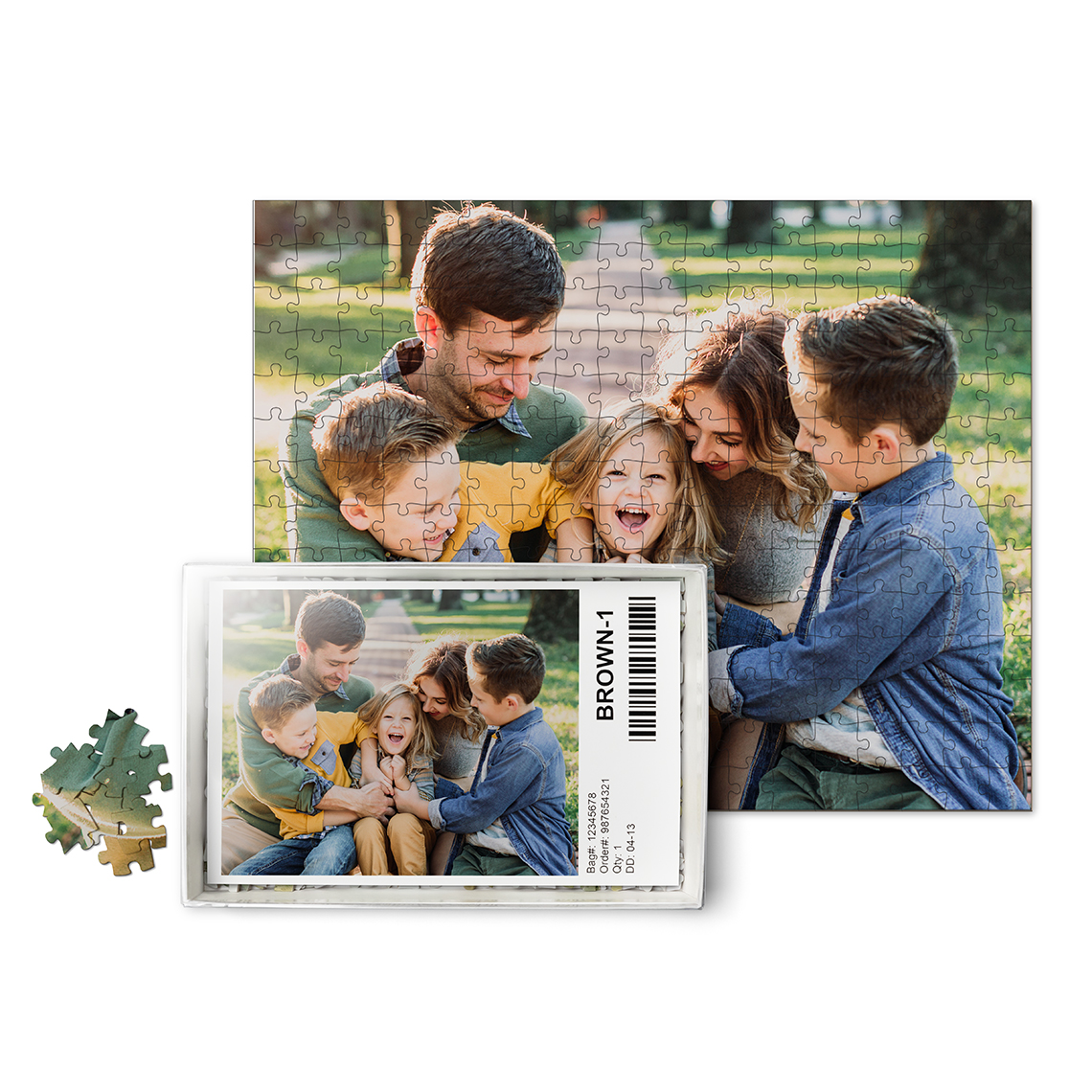 252-Pieces Custom Photo Puzzle 10x14 With Box