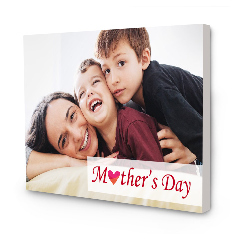 Image of canvas with mother and children's