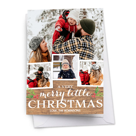 Folded Christmas Card with family