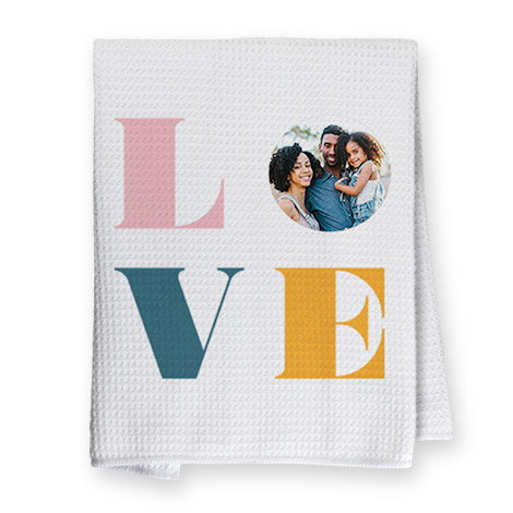 Picture of Love tea towel
